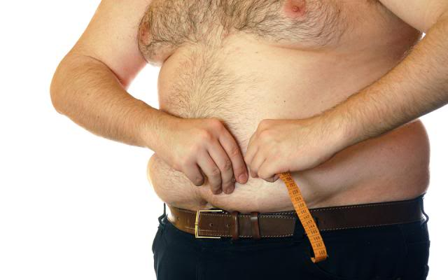 Жир на животе у мужчины