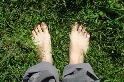 Прогулка босиком по траве