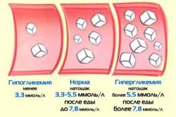Гипергликемический и гипогликемический показатели