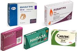 Лекарственные препараты для лечения эректильной дисфункции