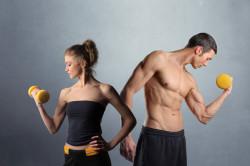 Разное строение мыщц у мужчин и женщин