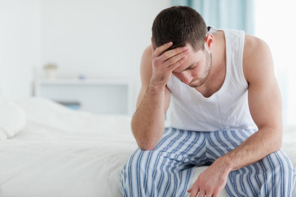 Мужчина, страдающий от рака простаты