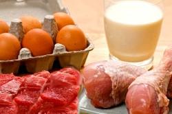 Продукты для диеты: яйца; постное мясо; нежирная рыба; грибы