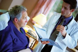 Лечение доктором в медицинском учреждении
