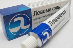 Левомеколь для обработки раны после обрезания