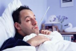 Острое респираторное заболевание у мужчины