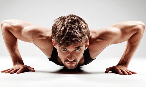 Отжимания - одно из основных упражнений утренней зарядки