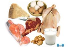Продукты для набора веса: мясо, рыба, яйца, сыры, орехи, молочные продукты.