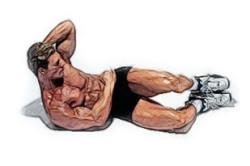 """Упражнение """"скручивание"""" для косых мышц живота"""