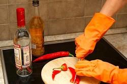 Приготовление настойки перца