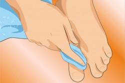 Протирание ступней