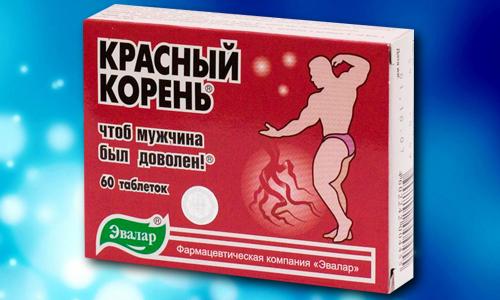 Красный корень в таблетках