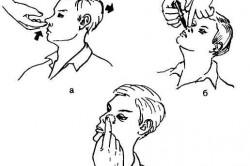 Схема закапывания в нос