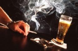 Курение и употребление алкоголя
