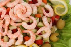 Креветки в салате