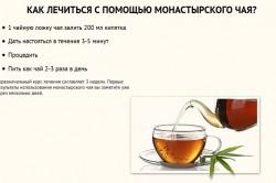 Употребление монастырского чая